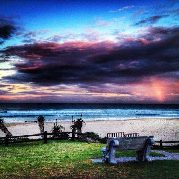 Jeffrey's Bay Südafrika Sonnenuntergang