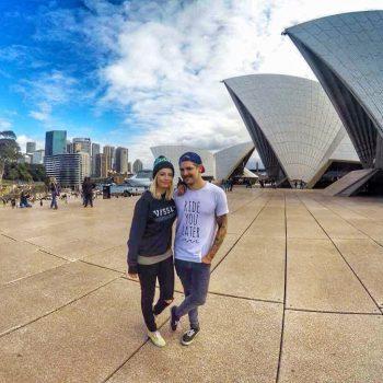 Australien Sydney Opernhaus Backpacker